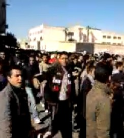 Protests in Tangier on 30 January