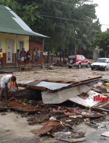 Daños del tsunami en Anse Royale, Seychelles