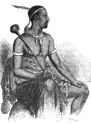 Sketch of King Moshoeshoe I by Eugène Casalis