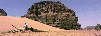 Tassili Mountains in Algerian Sahara