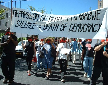 Demonstration in Windhoek