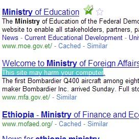 Virus On Ethiopian Websites
