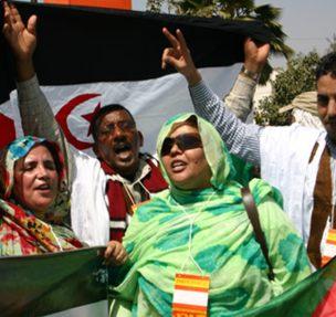 Manifestantes saharauis